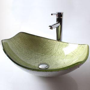 (EU Lager)Design Waschbecken Glas ohne Wasserhahn