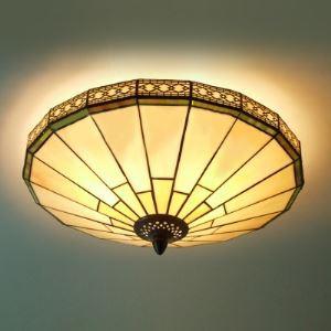 (EU Lager)Deckenleuchte aus Glas im Tiffany Stil 2-Flammig