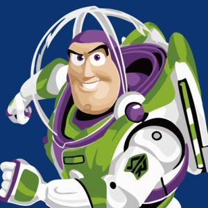 (EU Lager)Malen nach Zahlen Cartoon Buzz Lightyear von Toy Story DIY Handgemaltes Digital Ölgemälde 20*20 cm