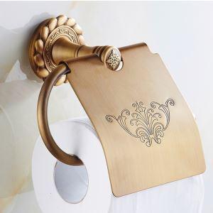 (EU Lager) WC Rollenhalter mit Deckel Antik Messing Bad-Accessoires