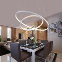 Moderne Hängeleuchte Led Ring Design aus Acryl 60cm+40cm