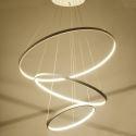 Moderne Pendelleuchte Led Ring Design aus Acryl 80cm+60cm+40cm