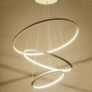 (EU Lager) Moderne Pendelleuchte Led Ring Design aus Acryl 80cm+60cm+40cm