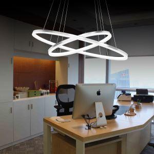 (EU Lager)Led Hängeleuchte Modern Ring Design aus Acryl 60cm+40cm