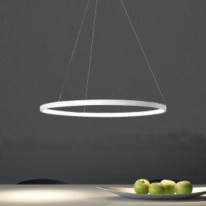 Led Pendelleuchte Modern Ring Design aus Acryl 80 cm im Esszimmer