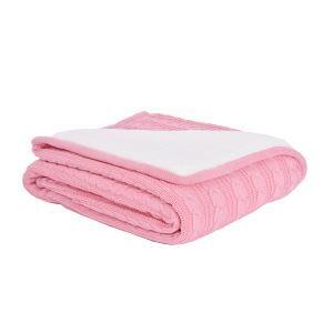 (EU Lager)Wohndecke Strickdecke Modern Pink 120*180cm