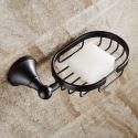 Seifenkorb Seifenhalter Bad aus Messing Schwarz