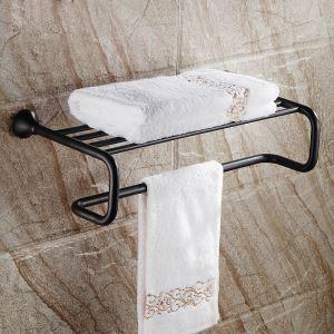 (EU Lager)Handtuchhalter Bad Handtuchablage Messing Schwarz