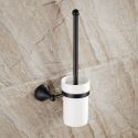 WC Bürstengarnitur aus Messing Schwarz