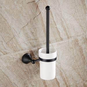 (EU Lager)WC Bürstengarnitur aus Messing Schwarz