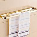Handtuchstange Zweiarmig Handtuchhalter aus Messing Gold
