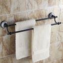 Handtuchstange Doppelt Handtuchhalter Messing Schwarz