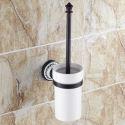 WC Bürstenhalter aus Keramik Messing Schwarz