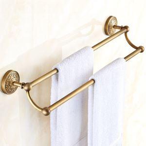 (EU Lager)Doppel Handtuchstange Handtuchhalter Antik Messing