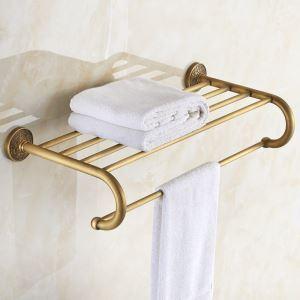 (EU Lager)Antik Messing Handtuchhalter Handtuchablage Badezimmer