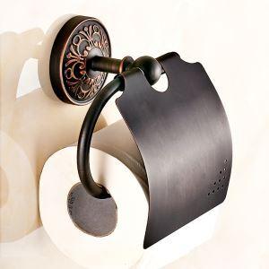 (EU Lager)WC Papierrollenhalter mit Deckel Messing Schwarz