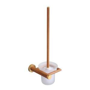 (EU Lager)WC Bürstenhalter Bad Wandmontage aus Holz
