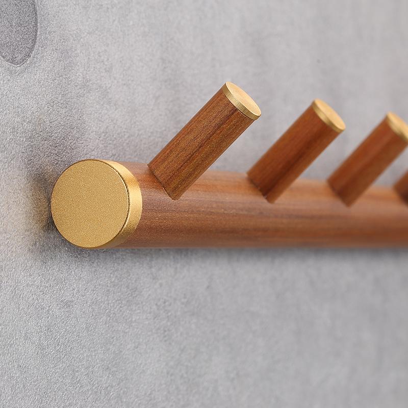 Blanco Wei/ß 6 Ganchos Madera 6 Haken InterDesign Hakenleiste aus Holz
