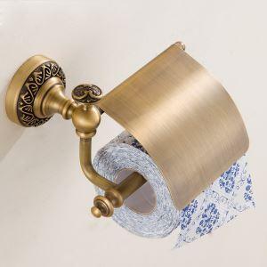 (EU Lager)WC Rollenhalter mit Deckel Antik Messing