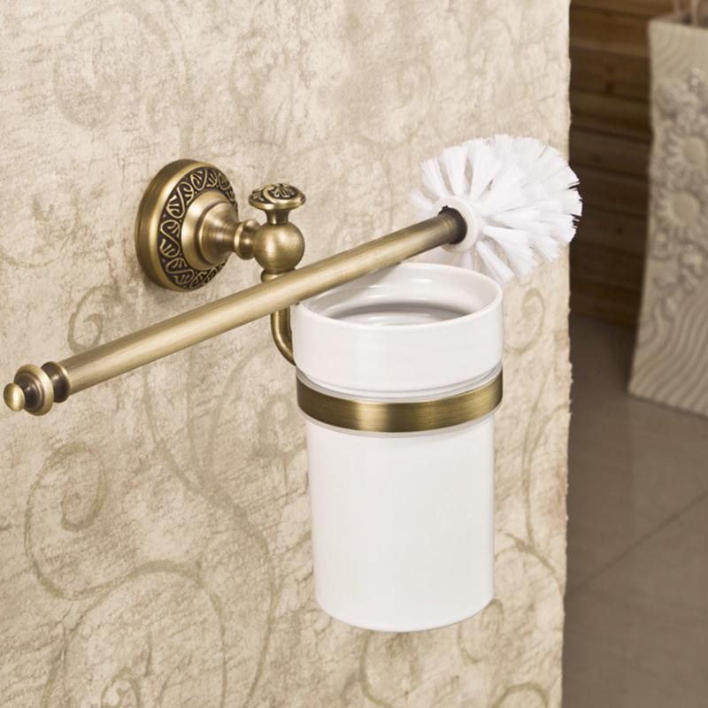 antik messing wc b rstenhalter wandmontage bad accessoires. Black Bedroom Furniture Sets. Home Design Ideas