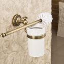 Antik Messing WC Bürstenhalter Wandmontage Bad Accessoires