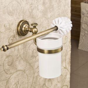 (EU Lager)Antik Messing WC Bürstenhalter Wandmontage Bad Accessoires