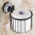 Toilettenpapierhalter Bad Wandmotage Schwarz