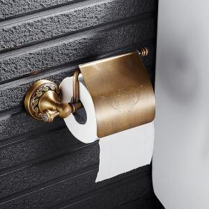 (EU Lager) WC Rollenhalter Wandmontage Antik Messing Badzubehör