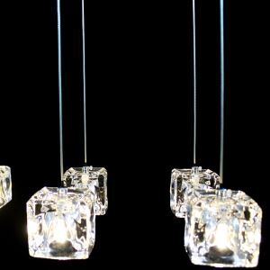 (EU Lager)Versandkostenfrei Mini Pendelleuchte Kristall Modern Chrom 1-Flammig Schlafzimmer