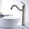 Moderne Waschtischarmatur Bad Nickel Gebürstet