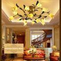 Prächtige Deckenleuchte Led Glas Tulpen Design 15-flammig