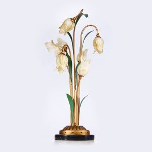 Traumhafte Tischleuchte Led im Florentiner Stil Glas Tulpen Design 7-flammig