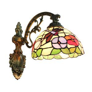 (EU Lager)Tiffany Wandleuchte Schmetterling Design D20cm 1-flammig im Flur