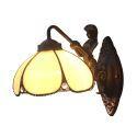 Facettenreiche Wandleuchte Retro Stil Seejungfrau Design D20cm 1-flammig