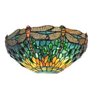 (EU Lager)D30cm Anmutige Wandleuchte Tiffany Stil 1-flammig im Flur