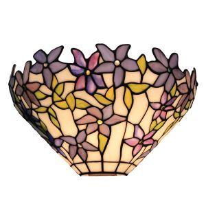(EU Lager)Tiffany Wandleuchte Veilchen Design D30cm 1-flammgi im Schlafzimmer