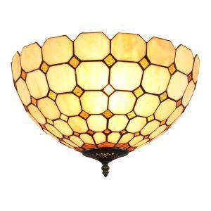 (EU Lager)2 flammige Deckenleuchte Tiffany Stil D30cm im Schlafzimmer