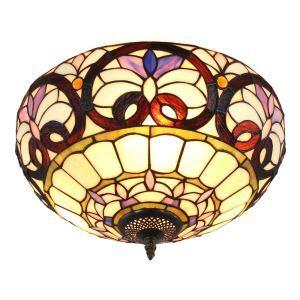 (EU Lager)Wunderschöne Deckenleuchte Tiffany Stil D40cm 2-flammig