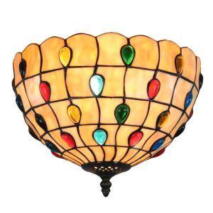 (EU Lager)Elegante Deckenleuchte Tiffany Stil D30cm 2-flammig