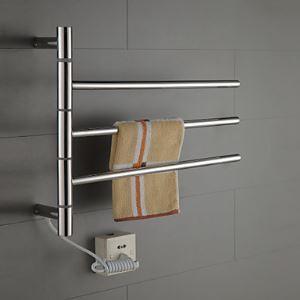(EU Lager) 30W Swing Arm Edelstahl Handtuchwärmer Handtuchhalter