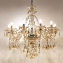 Kristall Kronleuchter Modern Stilvoll 10 flammig im Esszimmer