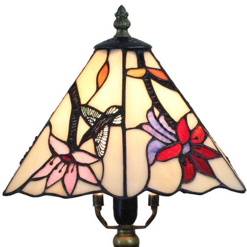 tiffany tischlampe d20cm kolibris blumen design 1 flammig. Black Bedroom Furniture Sets. Home Design Ideas
