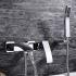 Zeige Details für Moderne Wannenarmtur Bad Aufputz Wandmontage mit Handbrause Chrom