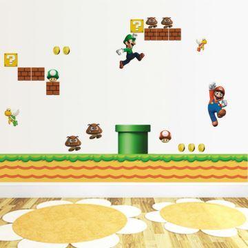 Cartoon Super Mario Wandtattoo aus PVC