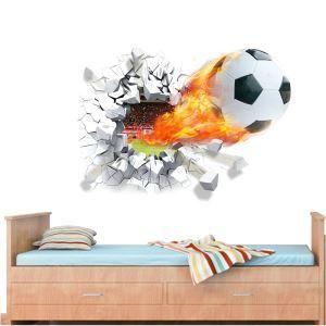 3D Wandtattoo Fußball PVC Fototapete