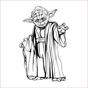 PVC Wandsticker STAR WARS Yoda