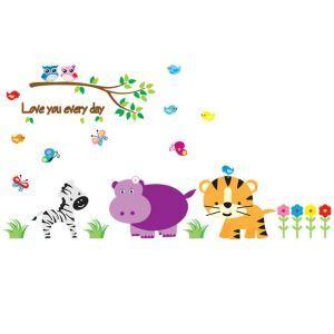 PVC Wandtattoo Cartoon Tiere