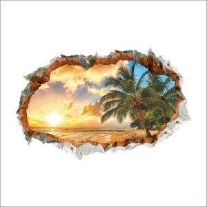 3D Wandtattoo Sonnenuntergang am See PVC Fototapete