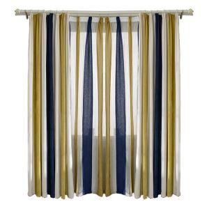 Mediterraner Stil Vorhang Streife Design aus Chenille