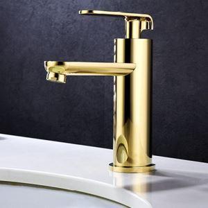 Moderne Waschtischarmatur Gold Einhandmischer im Badezimmer